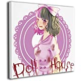 ExcelPic Doll House Melanie Martinez Canvas Wall Art Prints,Modern Painting Picture On Canvas,Decorative Giclee Artwork Wall Decor for Home,Gallery Wrapped Ready to Hang
