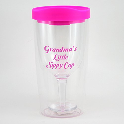 Grandma's Sippy Cup Wine Glass - Funny Grandmother Gift
