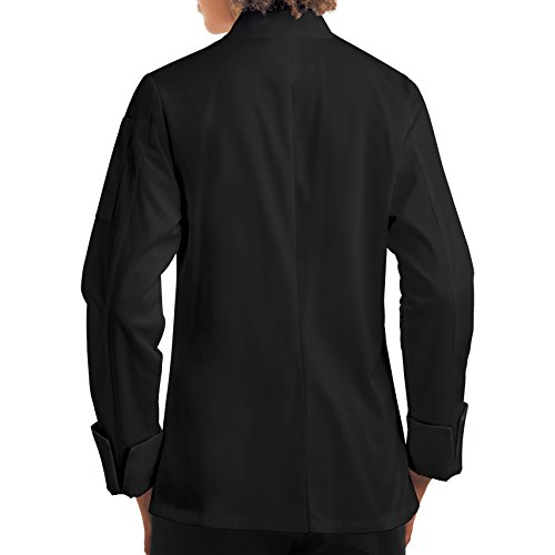 Womens-Long-Sleeve-Chef-CoatDouble-BreastedPlastic-Button-Reversible-Front-Closure-S-XL-2-Colors