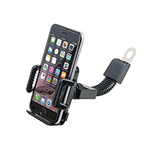Hypersonic Motorcycle Cell Phone Holder GPS Mount Universal Handle Clip
