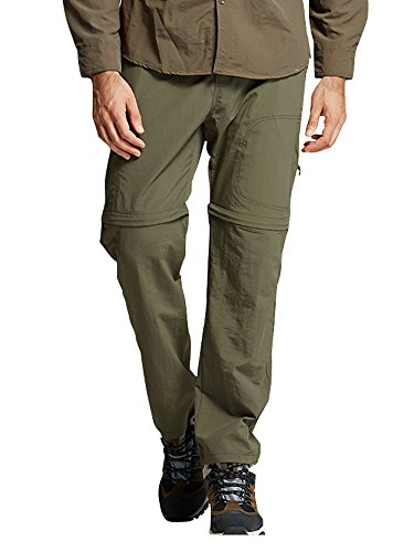 Men's Quick Dry Convertible Cargo Pant#2088,Army green,XL 38 (Mens Cargo Zip Off Pants)