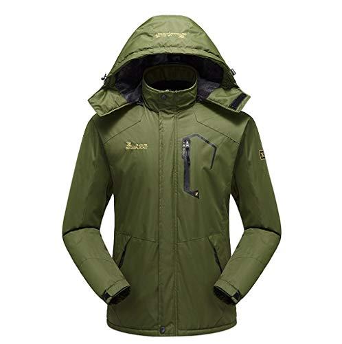 Mens Waterproof Coat Autumn Casual Fashion Quick-Drying Breathable Sport Outdoor Jacket Beautyfine Green (Best Charter Schools In Houston)