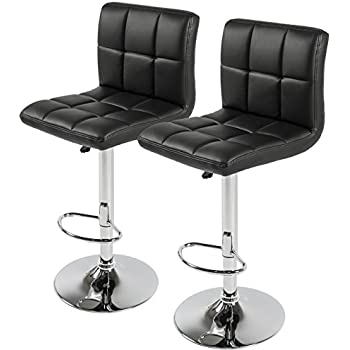Best Choice Products Set of 2 PU Leather Adjustable Bar Stools Counter Swivel Barstool Pub black  sc 1 st  Amazon.com & Amazon.com: Best Choice Products Set of 2 PU Leather Adjustable ... islam-shia.org