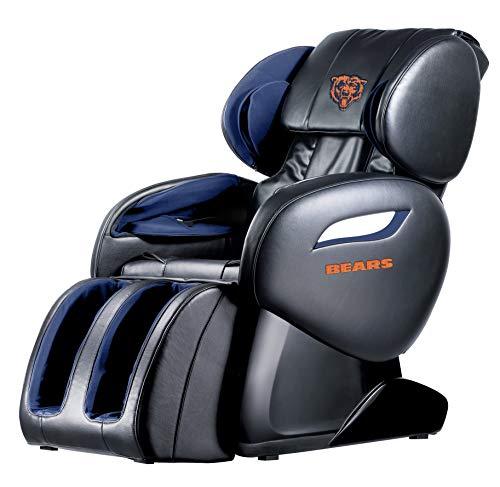 NFL Electric Full Body Shiatsu Massage Chair Recliner Zero Gravity w/Heat (NFL-Chicago Bears)