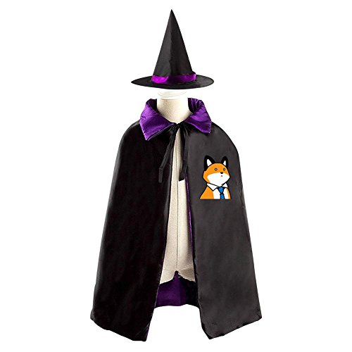 Cute Alien Costume Makeup (Halloween Costume Children Cloak Cape Wizard Hat Cosplay Cute Corgi For Kids Boys Girls)