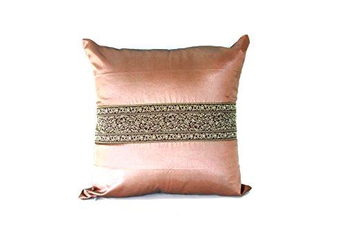 Lotus House Lite Brown Silk Pillowcase - Asian Collection (1, Lite Brown - Asian Collection) by Lotus House