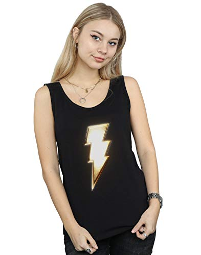 Camiseta Shazam Logo Negro Comics Mujer Dc Bolt Sin Mangas 4xnCWxgqw