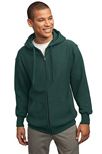 peso Hombres Sport Verde completa Tek de Verde con pesado sudadera capucha oscuro cremallera OrtqOU5xw