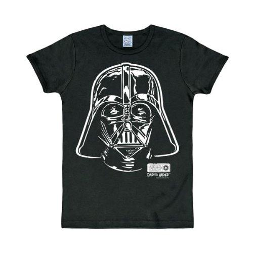Star Wars - Logoshirt Retro Herren T-Shirt DARTH VADER - FACE PORTRAIT schwarz SLIMFIT