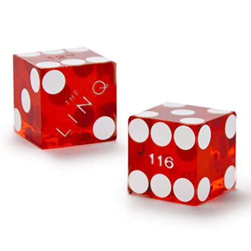 Cancelled Casino - Pair of Authentic The Linq Casino Cancelled Craps Dice - Actually Used in Casino!