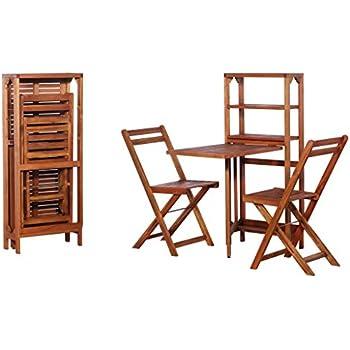 Amazon Com Festnight 3 Piece Folding Dining Table Set