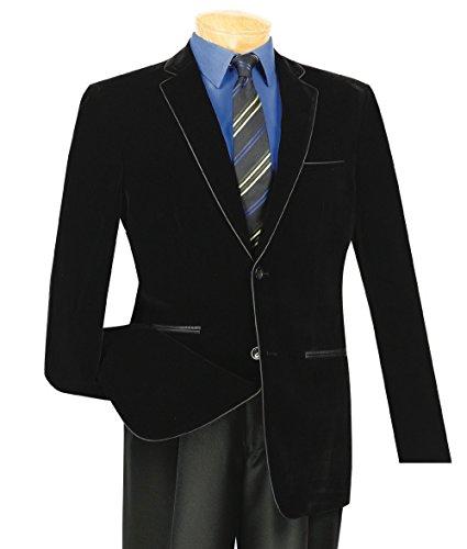 [해외]빈치 맨 즈 벨벳 2 버튼 슬림 핏 스포츠 재킷 블 레이저 w블랙 트리밍 New / VINCI Men`s Velvet 2 Button Slim-Fit Sport Jacket Blazer wBlack Trim New