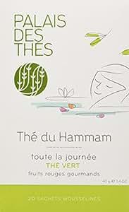 Palais des Thés Thé de Hammam Green Tea with Sweet Berries, 20 Tea Bags (40g/1.4oz)