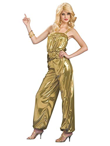 Rubie's Solid Diva Jumpsuit, Gold, One Size Costume -