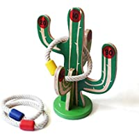 Shumee Wooden Cactus Toss a Ring Toy for Kids (Age 4 Years+)