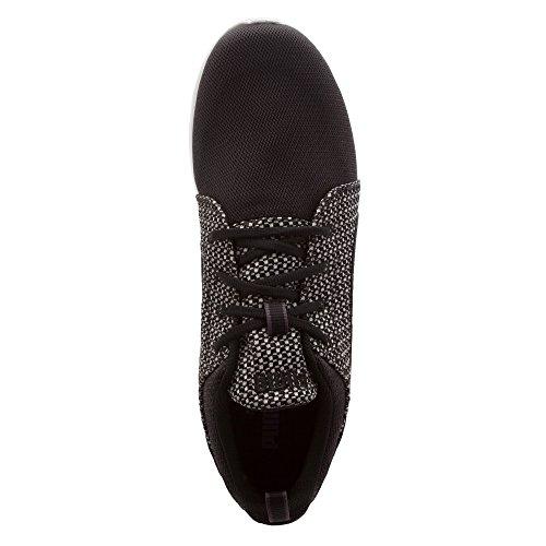 PUMA Herren Carson Runner stricken Lace-Up Fashion Sneaker Schwarz-Stern Weiß