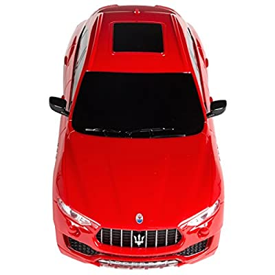 Best Choice Products 1/24 Scale 27MHz Licensed RC Maserati Levante, Red: Toys & Games