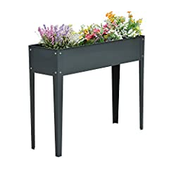 Ready, set, grow! With our Outsunny Elevated Garden Bed Planter Box you'll never again have to bend over or stoop down to tend to your garden plants. It's gardening without all the backbreaking work. Elevated planter boxes are the better way ...