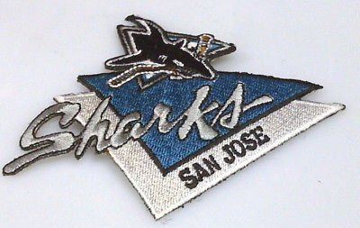 San Jose Sharks 4x3 embroided patch