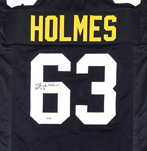 Pittsburgh Steelers Ernie Holmes Signed Auto Black Jersey - PSA/DNA Authentic (Pittsburgh Holmes Ernie Steelers)