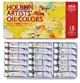 Holbein Artists' Oil Colors - Set of 18 Colors, in 10 ml Tubes