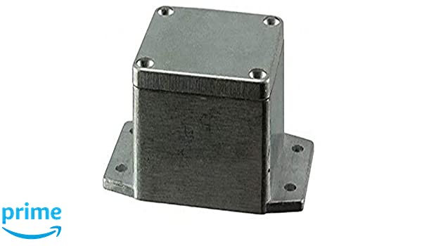 BUD Industries AN-2866-AB Black Powder Coated IP68 Aluminum 6.3x3.94x2.36 enclosure with molded in mounting brackets Inc.