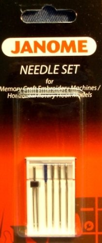 Janome Needle Set for Memory Craft Emb Machines/ Horizontal Rotary Hook Models ()