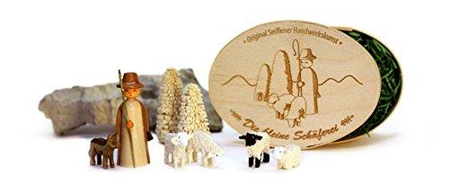 Miniatures Sheep farm in splinter box 10,5cmx8cm h=5cm miniature Christmas figure ore mountains