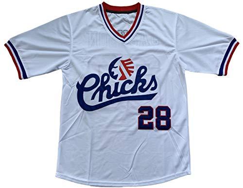 Bo Jackson #28 Memphis Chicks Baseball Jersey White (28 White, - Jackson Bo Jersey