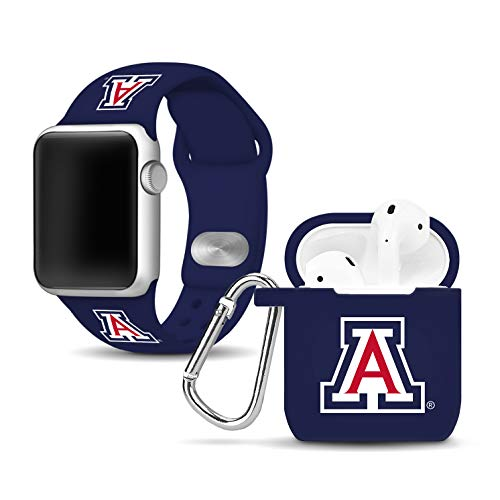 - Affinity Bands Arizona Wildcats Silicone Watch Band and Case Cover Combo Compatible with Apple Watch and AirPod Case