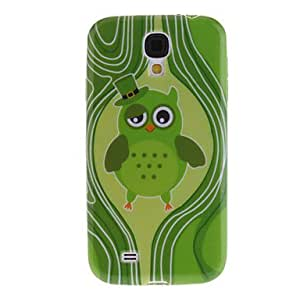 PEACH ships in 48 hours Green Owl Pattern TPU Soft Case for Samsung Galaxy S4 I9500