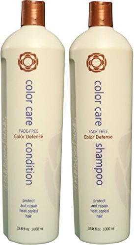 Thermafuse Color Care Shampoo & Condition Duo (33 oz) Sulphate Free, Color Brightening, Shampoo That Prevents Color Fading. For Colored, Bleached & Highlighted Hair of All - Highlights Red Shampoo