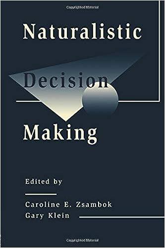 Amazon com: Naturalistic Decision Making (Expertise