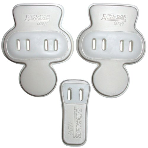 Adams USA Tuff-Lite 3Piece Slotted Hip & Tailbone Football Pad Set White, One Size ()