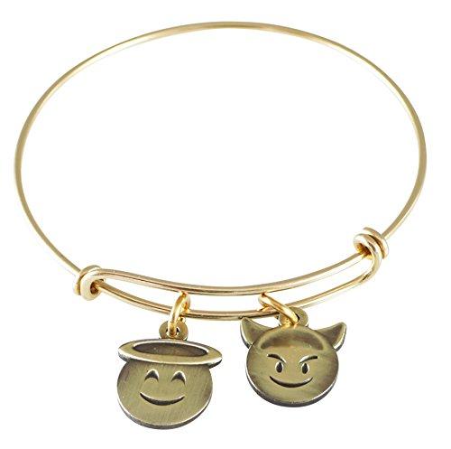 Emoji Charm Bracelet (Sugar and Spice- Antique Gold)