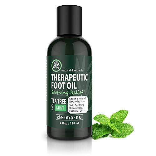 Anti-fungal Therapeutic Foot and Body Oil - Control Toe and Foot Fungus - Athletes Foot and Energize Tired Soles - Soothing Tea Tree, Menthol and Mint - Contains Powerful Antibacterial Essential Oils