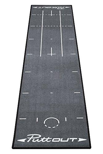 PuttOut Pro Golf Putting Mat - Perfect Your Putting, Grey, 240 x 50 cm