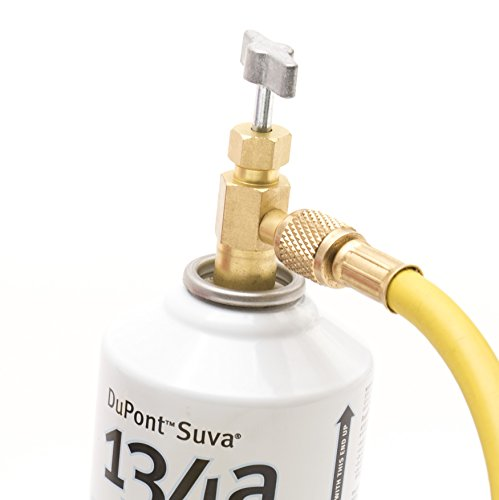 Kozyvacu R134a Refrigerant Self-Piercing Can Tap Valve with 1/4 Flare port for AUTO AC recharging, Easily connecting with Quick Coupler - 134a Refrigerant