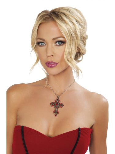 Roma Costume 14-NEC404-AS-O-S Cross Necklace, One Size