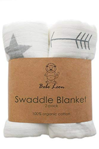 Baby Swaddle Blanket | Muslin Blanket | Organic Cotton | 2 Pack | 47