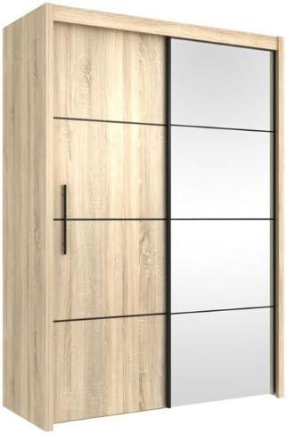 Inova Armario de Puertas correderas de Madera de Roble 150 cm (p4ds4115) – por Muebles Factor: Amazon.es: Hogar