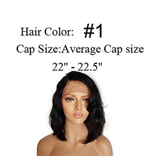 Peony red Lace Front Human Hair Wigs For Black Women 130% Remy Hair Lace Front Wigs Human Hair Bob Wig Pre Plucked Wavy Short Wigs,#1,10inches