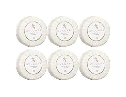 Bvlgari White Tea (Bvlgari Au the Blanc (White Tea) Pleated Soap 50g - Set of 6)