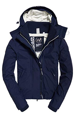 Donna ecru Blu Pop Hooded Juk Zip Giacca navy Superdry Arctic Sportiva Windchea 0ZqxZvap