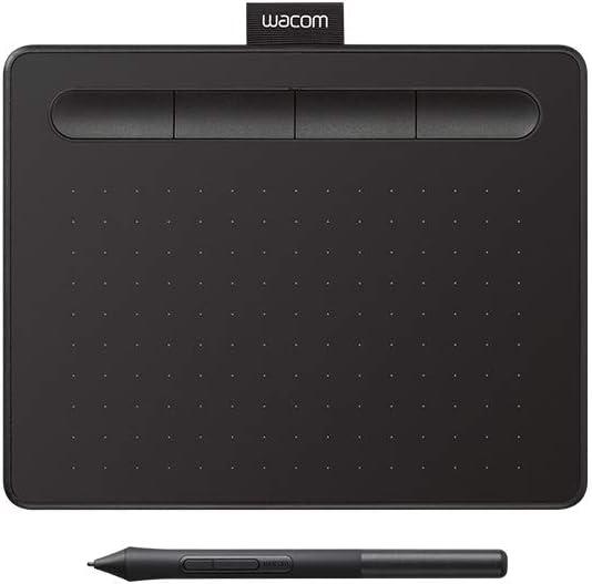 "Wacom CTL4100 Intuos Graphics Drawing Tablet with Bonus Software, 7.9"" X 6.3"", Black, Small"