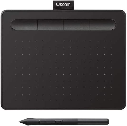 Amazon Com Wacom Intuos Graphics Drawing Tablet With Bonus Software 7 9 X 6 3 Black Ctl4100 Small Computers Accessories