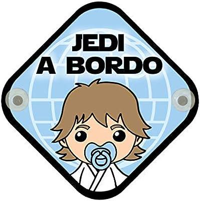 Cartel madera Bebé a bordo. Parodia Star Wars - Jedi. Jedi a ...