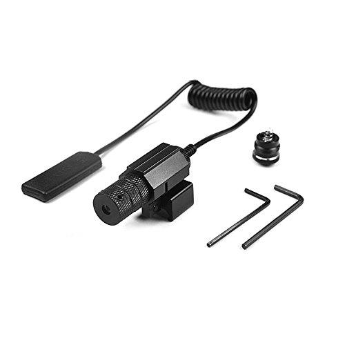 Pistol Laser, Pistol Sights, Compact Tactical Adjustable Gun Red Laser/Gun-Sights Less Than 5mw with Picatinny Rail, Dual illuminated Mil-dot w/ Rail Mount
