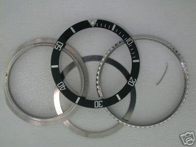 Bezel, Insert, Rotating Ring for Rolex Submariner 16610 Black