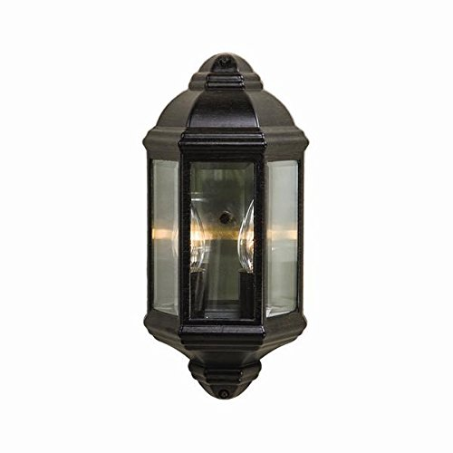 Acclaim 6002BC Pocket Lantern Collection 2-Light Wall Mount Outdoor Light Fixture, Black Coral